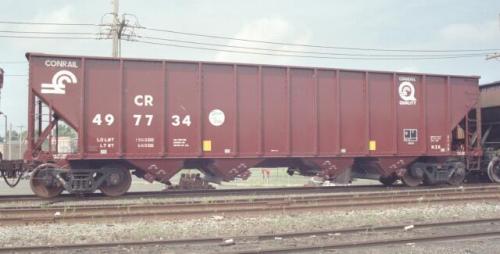 Rail - Rolling Stock (Freight) - Open Hopper - 4-Bay Steel