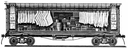 Rail - Rolling Stock (Freight) - Reefer - Ice, Wood