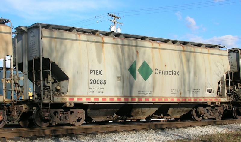 Vehicle - Rail - Rolling Stock (Freight) - Covered Hopper - 3-Bay, Potash