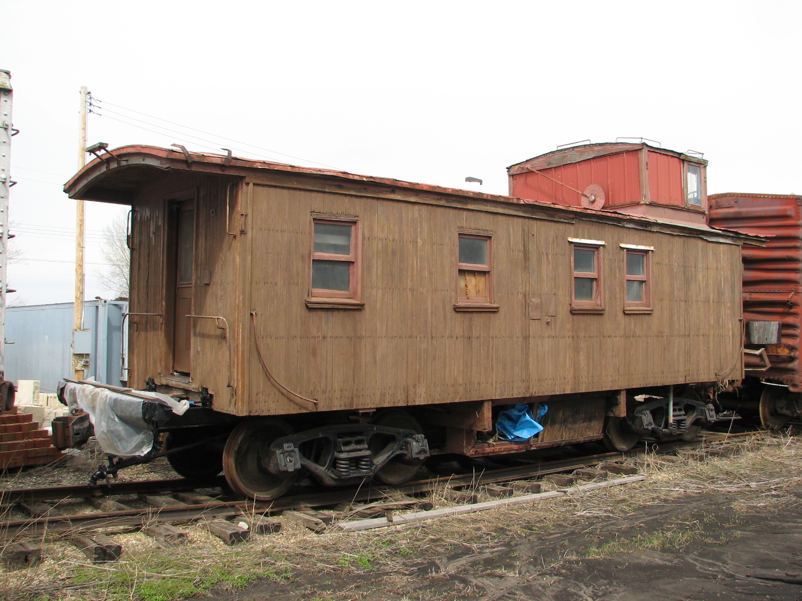 Vehicle - Rail - Rolling Stock (Freight) - Caboose - Cupola, Wood