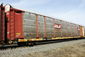 Vehicle - Rail - Rolling Stock (Freight) - Autorack - Enclosed, Bi-Level