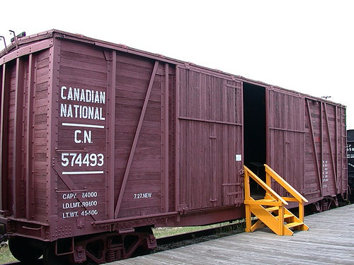 Rail - Rolling Stock (Freight) - Boxcar - 50 Foot, Wood, Double Door