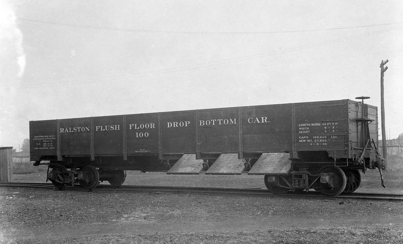 Vehicle - Rail - Rolling Stock (Freight) - Gondola - Steel, Drop Bottom