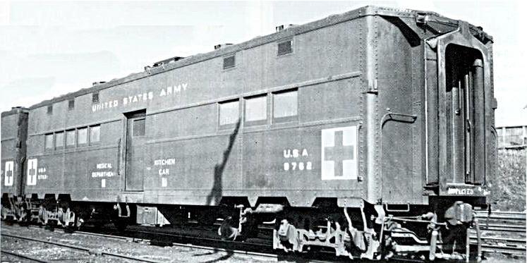 Rail - Passenger Car - Troop Transport - 50 Foot