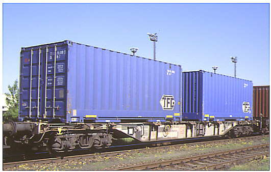 Vehicle - Rail - Rolling Stock (Freight) - Flatcar - 20M, Container Sgss 703