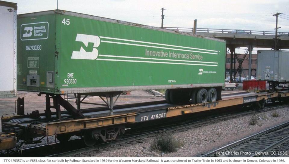 Rail - Rolling Stock (Freight) - Flatcar - 85 Foot TOFC