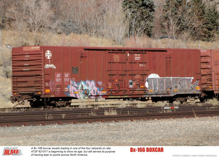 Rail - Rolling Stock (Freight) - Boxcar - 62 Foot BX-166