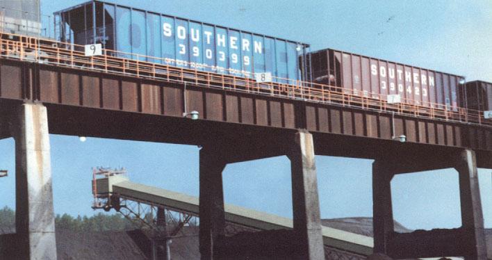 Rail - Rolling Stock (Freight) - Open Hopper - 5-Bay Ortner Rapid Discharge