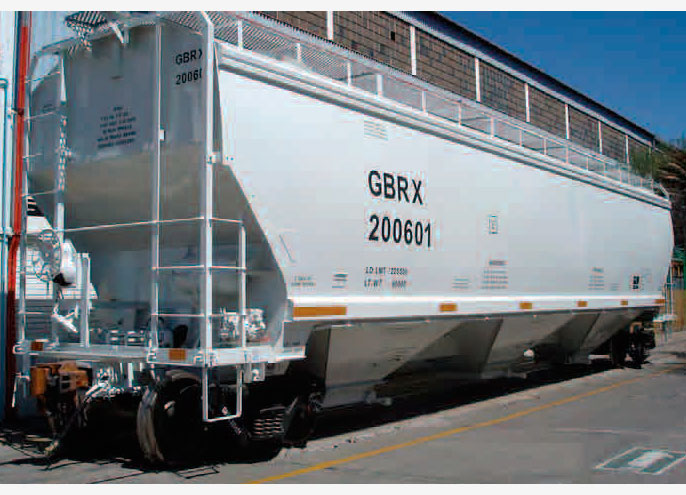 Rail - Rolling Stock (Freight) - Covered Hopper - 3-Bay Gunderson 5188