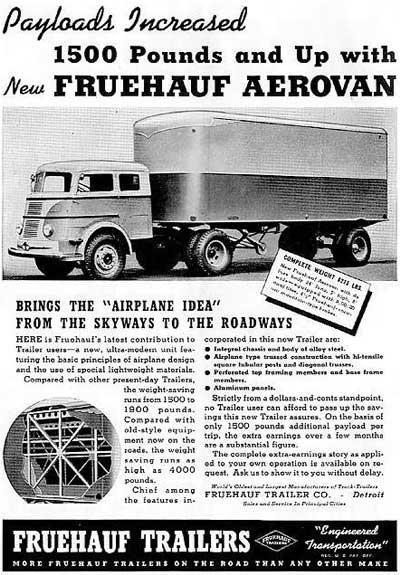 Vehicle - Vehicle - Trailer - Various Sizes - Fruehauf Aero-Van