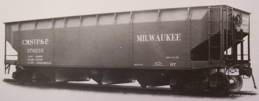 Vehicle - Rail - Rolling Stock (Freight) - Open Hopper - 3-Bay 70 Ton Offset