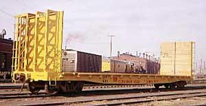 Vehicle - Rail - Rolling Stock (Freight) - Flatcar - 53 Foot GSI Bulkhead