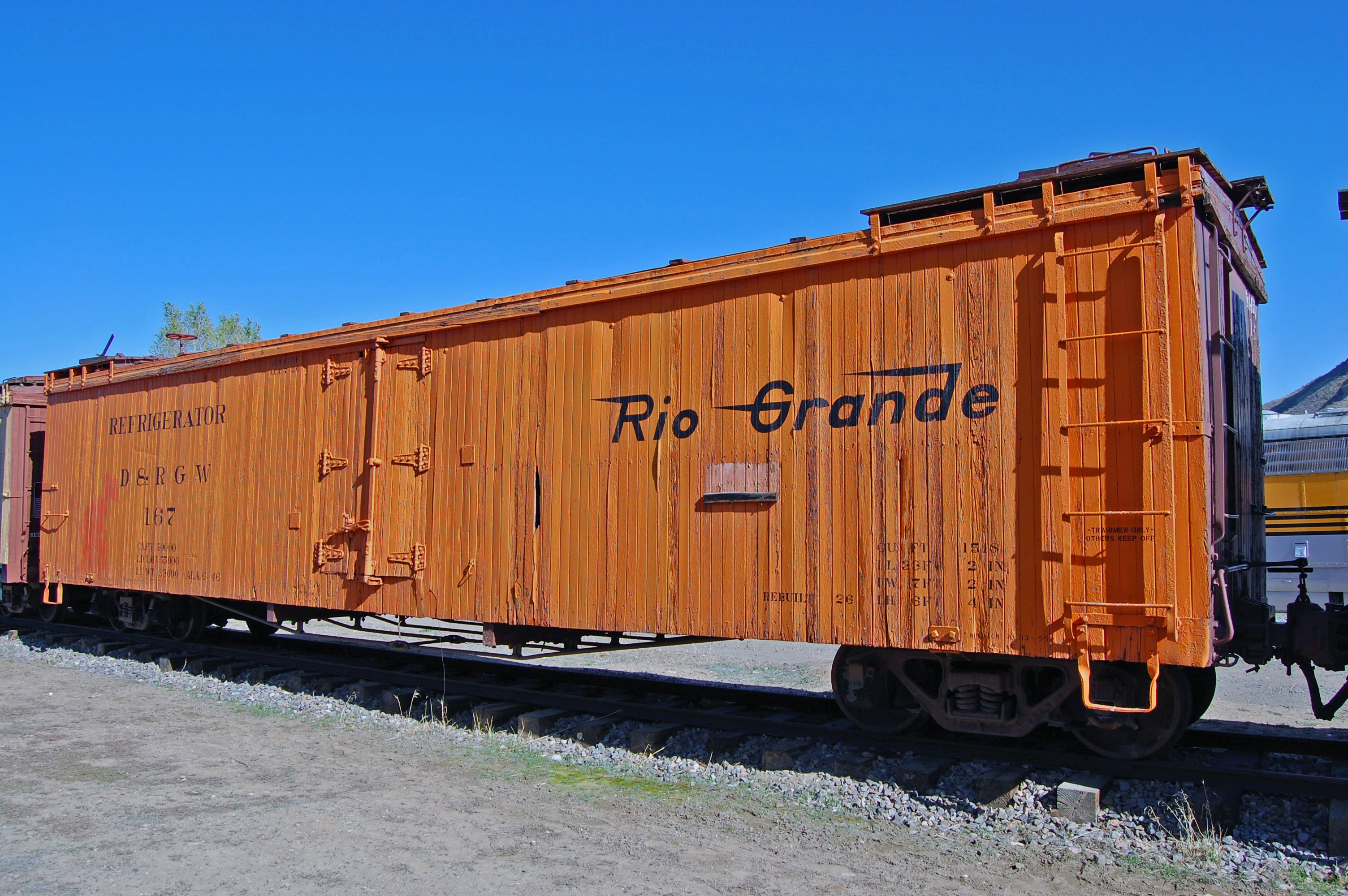 Rail - Rolling Stock (Freight) - Reefer - Ice, 40 Foot, Wood