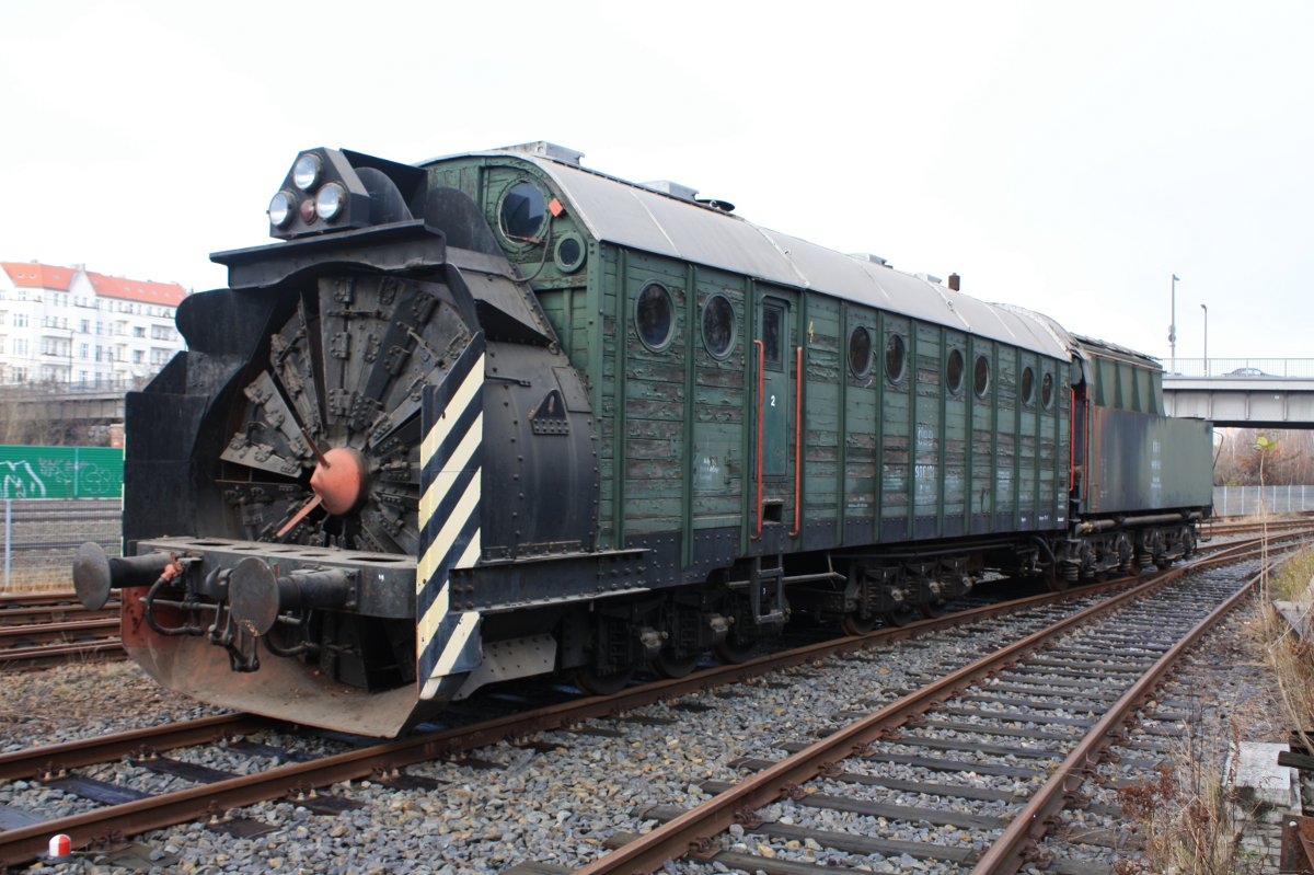 Rail - Rolling Stock (Freight) - Maintenance of Way - Rotary Snow Plow,  Henschel