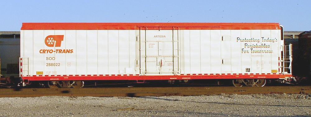 Vehicle - Rail - Rolling Stock (Freight) - Reefer - 76 Foot, Cryogenic, Gunderson