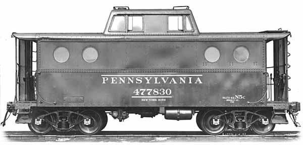 Vehicle - Rail - Rolling Stock (Freight) - Caboose - Cupola, Steel. N5/N5C