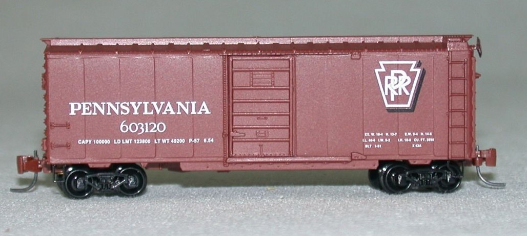 Z Scale - Micro-Trains - 14106 - Boxcar, 40 Foot, PS-1 - Pennsylvania - 603120