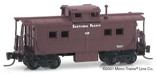 Z Scale - Micro-Trains - 14711 - Caboose, Cupola, Steel - Southern Pacific - 603