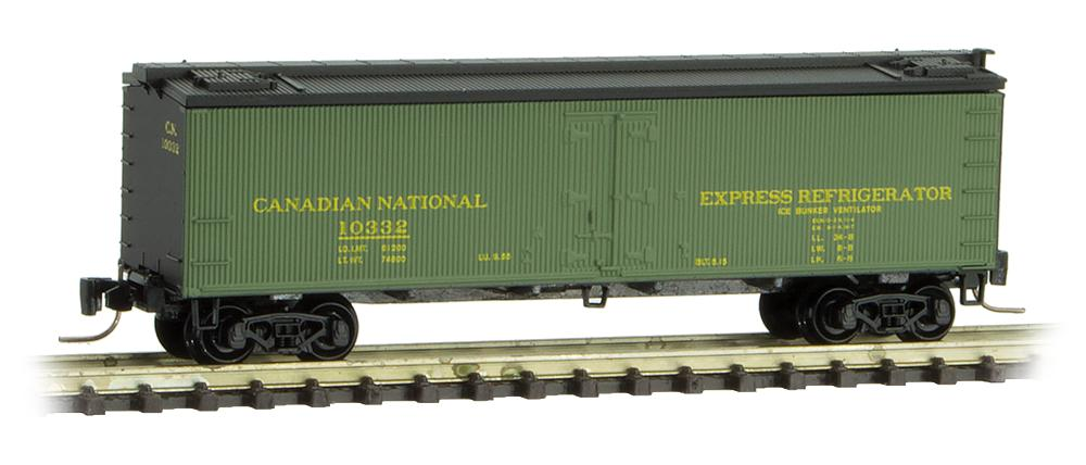 Z Scale - Micro-Trains - 518 00 411 - Reefer, Ice, Wood - Canadian National - 10329