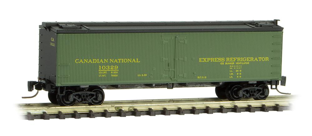 Z Scale - Micro-Trains - 518 00 412 - Reefer, Ice, Wood - Canadian National - 10332