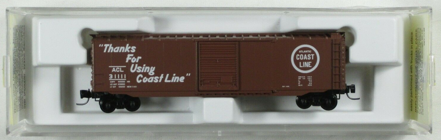 Z Scale - Micro-Trains - 13511-2 - Boxcar, 50 Foot, PS-1 - Atlantic Coast Line - 31111