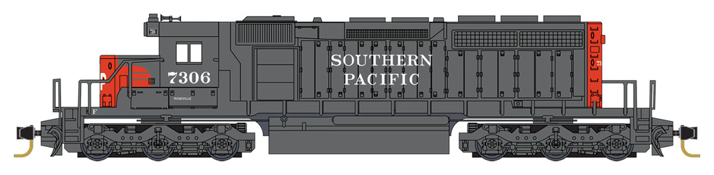 Z Scale - Micro-Trains - 970 01 252 - Locomotive, Diesel, EMD SD40-2 - Southern Pacific - 7306