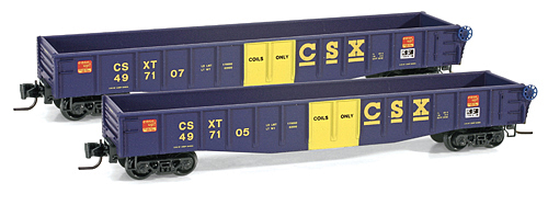 Z Scale - Micro-Trains - 522 00 192 - Gondola, 50 Foot, Steel - CSX Transportation - 497107