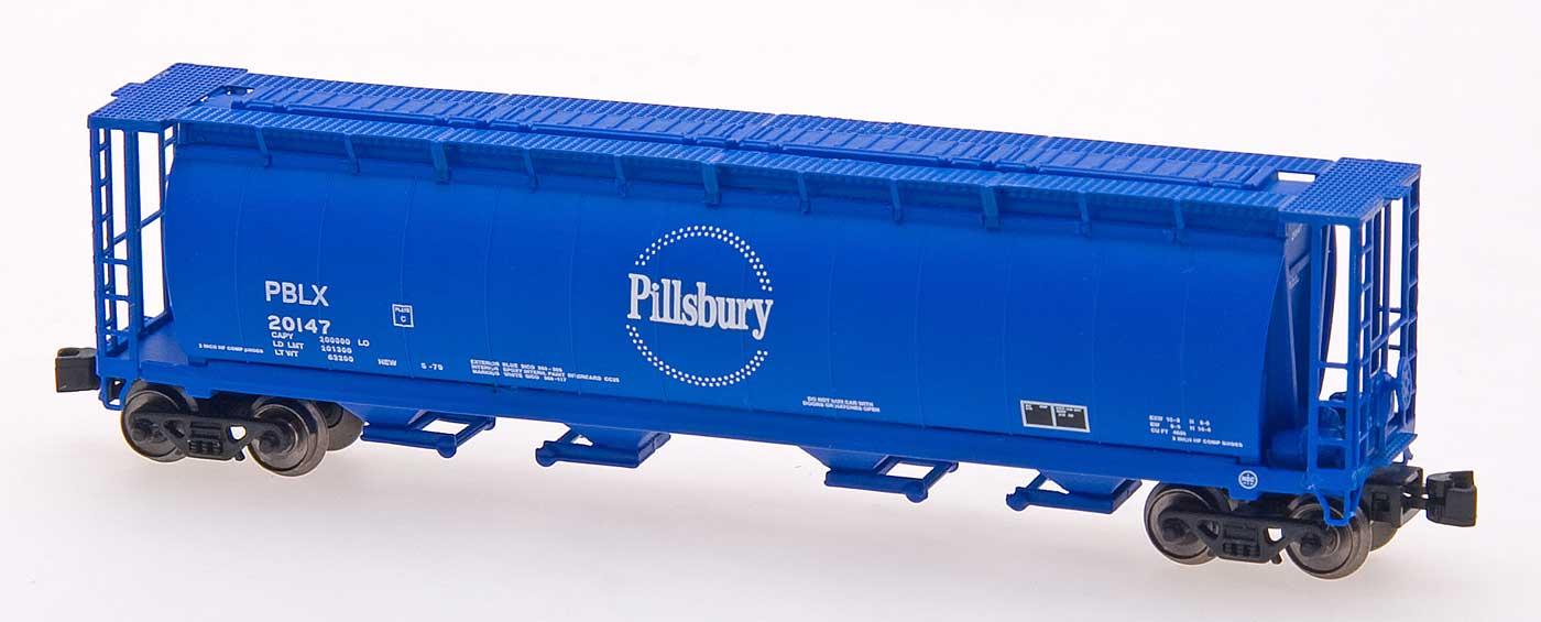 Z Scale - Intermountain - 85105-06 - Covered Hopper, 4-Bay, Cylindrical - Pillsbury - 20159