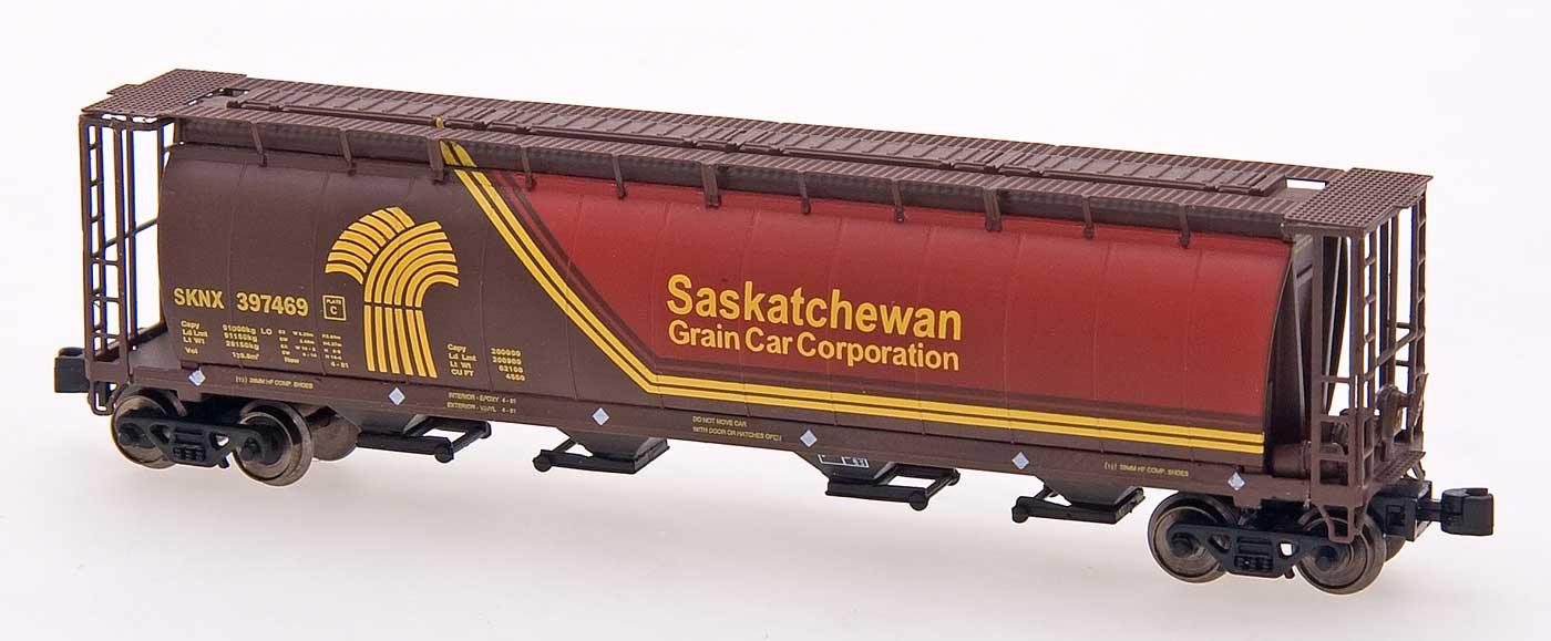 Z Scale - Intermountain - 85121-05 - Covered Hopper, 4-Bay, Cylindrical - Saskatchewan Grain Car - 397151
