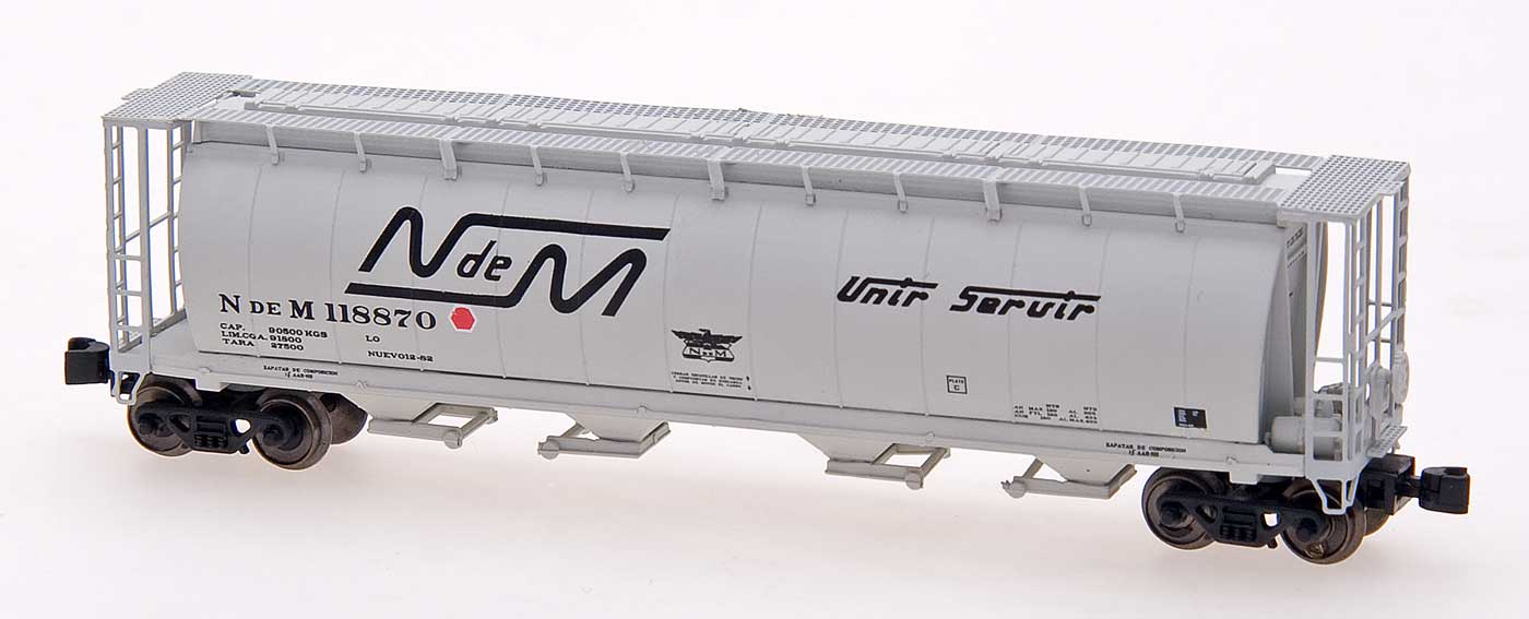 Z Scale - Intermountain - 85131-01 - Covered Hopper, 4-Bay, Cylindrical - Ferrocarriles Nacionales de México - 116893