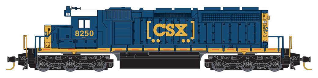 Z Scale - Micro-Trains - 970 01 262 - Locomotive, Diesel, EMD SD40-2 - CSX Transportation - 8250