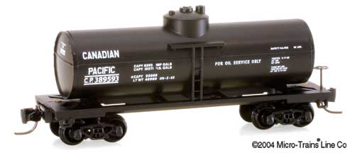 Z Scale - Micro-Trains - 14420 - Tank Car, Single Dome, 39 Foot - Canadian Pacific - 389593