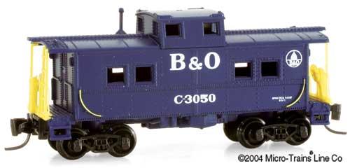 Z Scale - Micro-Trains - 14722 - Caboose, Cupola, Steel - Baltimore & Ohio - 3050