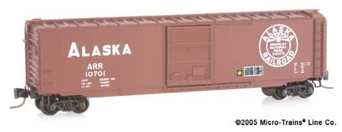 Z Scale - Micro-Trains - 505 00 200 - Boxcar, 50 Foot, PS-1 - Alaska Railroad - 10701
