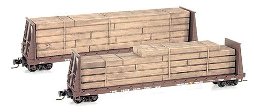 Z Scale - Micro-Trains - 527 00 021 - Flatcar, Bulkhead - Trailer Train - 80280