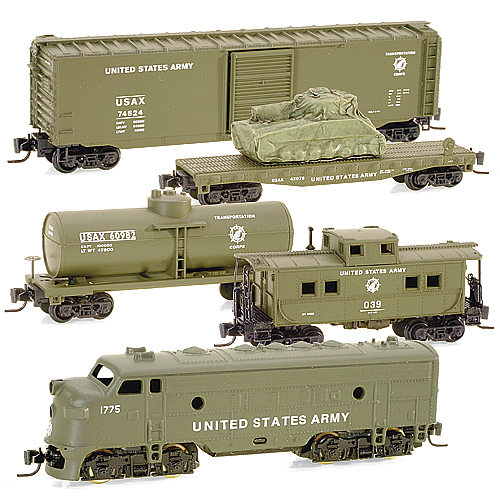 Z Scale - Micro-Trains - 994 01 020 - Mixed Freight Consist, North America, Transition Era - United States Army - 1775