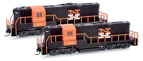 Z Scale - Micro-Trains - 982 01 032 - Locomotive, Diesel, EMD GP9 - New Haven - 1212