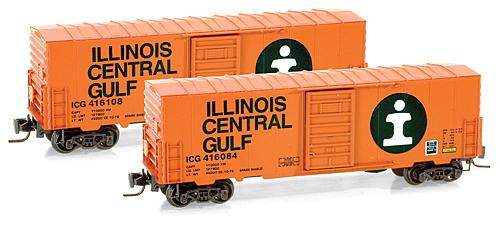 Z Scale - Micro-Trains - 503 00 011 - Boxcar, 40 Foot, PS-1 - Illinois Central Gulf - 416084