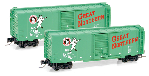 Z Scale - Micro-Trains - 500 00 441 - Boxcar, 40 Foot, PS-1 - Great Northern - 27107