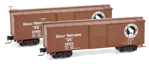 Z Scale - Micro-Trains - 515 00 161 - Boxcar, 40 Foot, Double Wood Sheathed - Great Northern - 24872