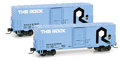 Z Scale - Micro-Trains - 503 00 042 - Boxcar, 40 Foot, PS-1 - Rock Island - 57607