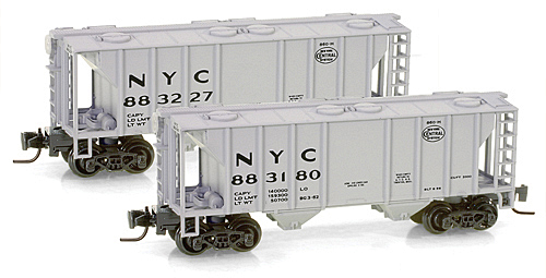 Z Scale - Micro-Trains - 531 00 102 - Covered Hopper, 2-Bay, PS2 - New York Central - 883227