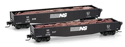 Z Scale - Micro-Trains - 522 00 202 - Gondola, 50 Foot, Steel - Norfolk Southern - 191339