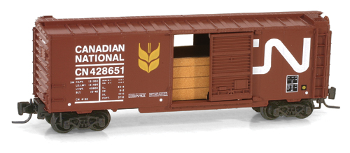 Z Scale - Micro-Trains - 500 00 590 - Boxcar, 40 Foot, PS-1 - Canadian National - 428651