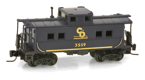 Z Scale - Micro-Trains - 535 00 270 - Caboose, Cupola, Steel - Chesapeake & Ohio - 3559