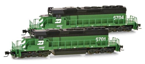 Z Scale - Micro-Trains - 970 01 021 - Locomotive, Diesel, EMD SD40-2 - Burlington Northern - 6701