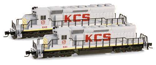 Z Scale - Micro-Trains - 970 01 031 - Locomotive, Diesel, EMD SD40-2 - Kansas City Southern - 641