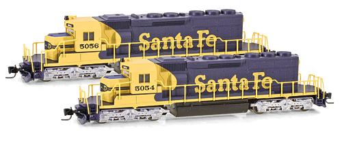 Z Scale - Micro-Trains - 970 01 091 - Locomotive, Diesel, EMD SD40-2 - Santa Fe - 5054