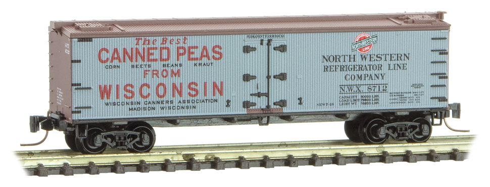 Z Scale - Micro-Trains - 518 00 750 - Reefer, Ice, Wood - North Western Refrigerator - 8712