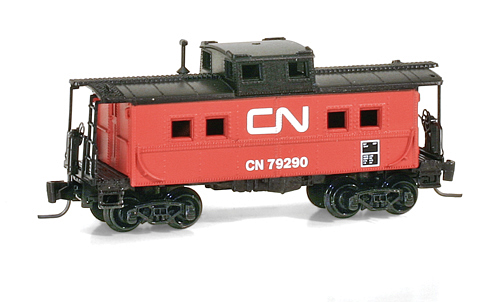 Z Scale - Micro-Trains - 535 00 320 - Caboose, Cupola, Steel - Canadian National - 79290